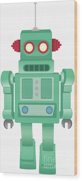 Some Kind Of Robot Wood Print