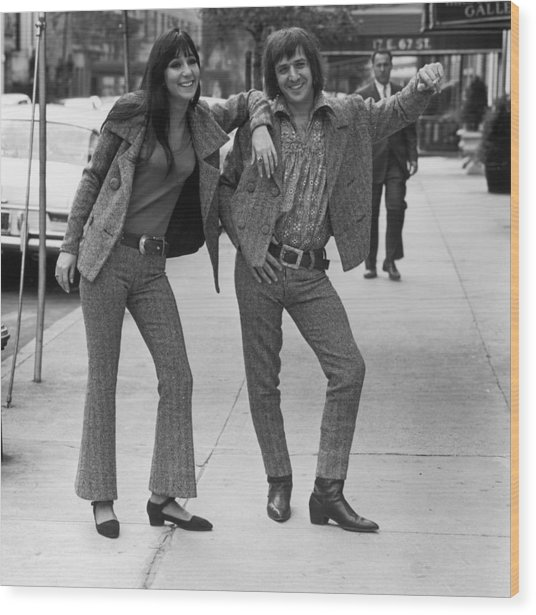 Sonny And Cher Wood Print by Jack Robinson