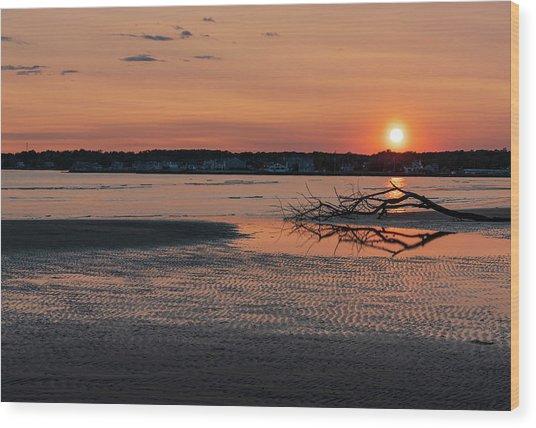 Soundview Sunset Wood Print