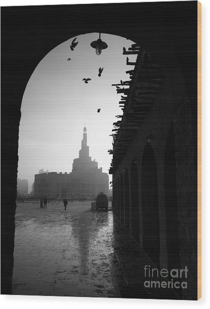 Souq Waqif In Doha. Qatar, Middle East Wood Print