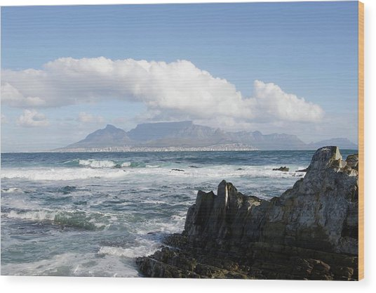 South Africa, Robben Island, View To Wood Print by Tony Souter