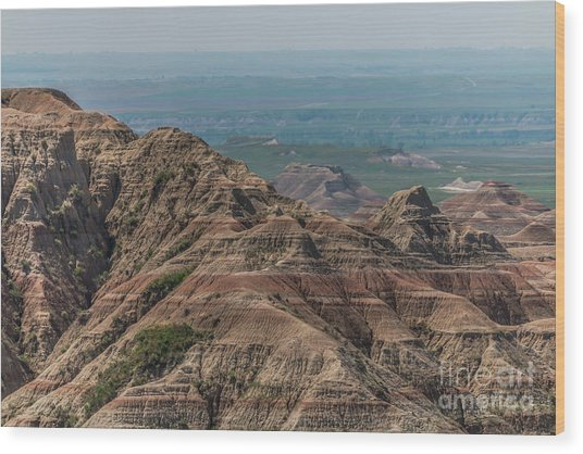 South Dakota Badlands Wood Print