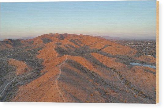 South Mountain Sunrise Wood Print