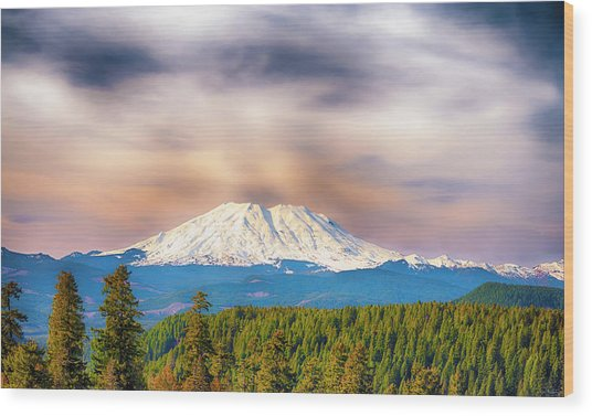 South Side View Of Mt. St. Helens Wood Print