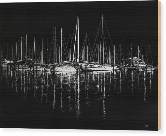 South Yacht Club Wood Print