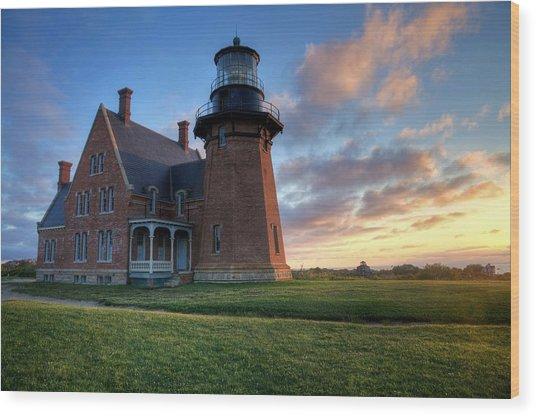 Southeast Light Sunrise Wood Print