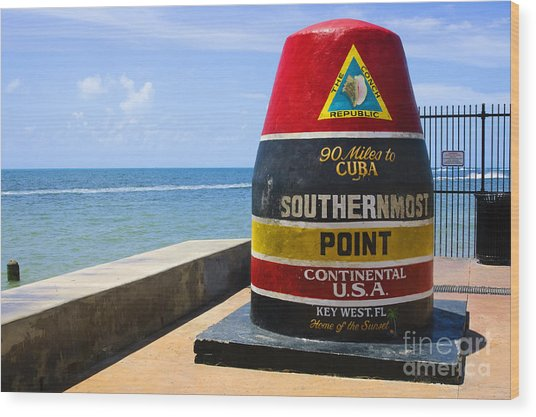 Southernmost Point In Continental Usa Wood Print