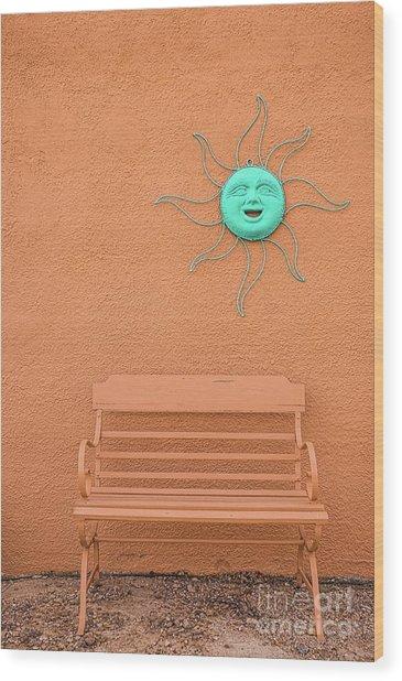 Southwestern Bench  Wood Print