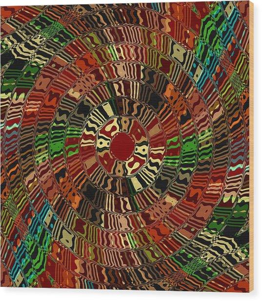 Southwestern Sun Swirl Wood Print