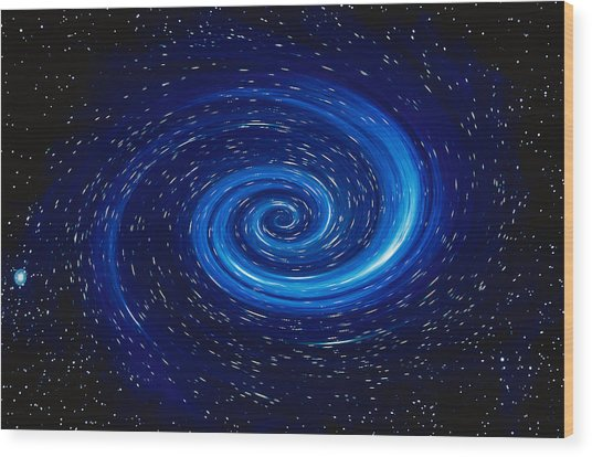 Space Image Generated By Computer Wood Print