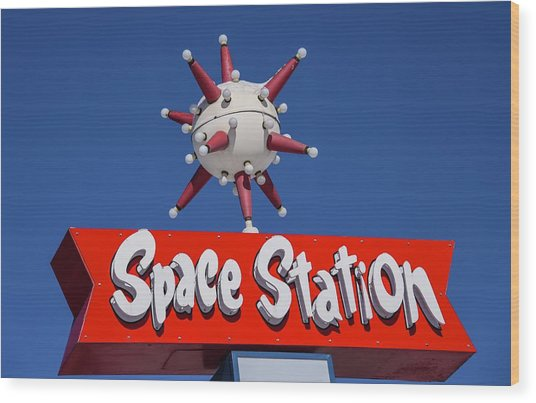 Wood Print featuring the photograph Space Station by Rand