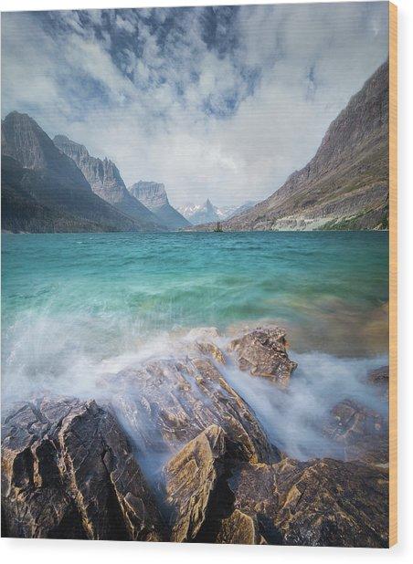 Splash / St. Mary Lake, Glacier National Park  Wood Print