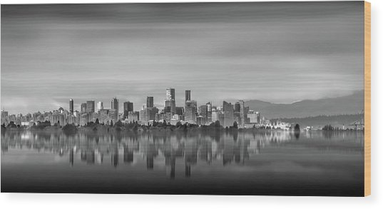 Special View Of Downtown Vancouver Wood Print