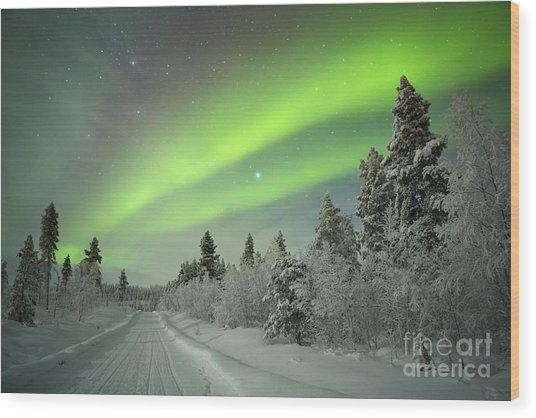 Spectacular Aurora Borealis Northern Wood Print