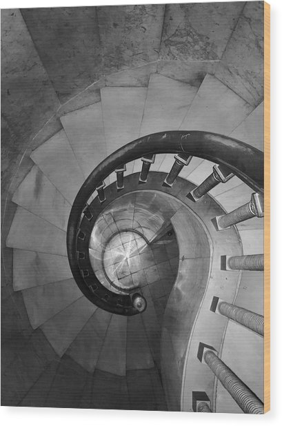 Spiral Staircase, Lakewood  Cemetary Chapel Wood Print