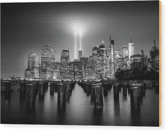 Spirit Of New York Wood Print
