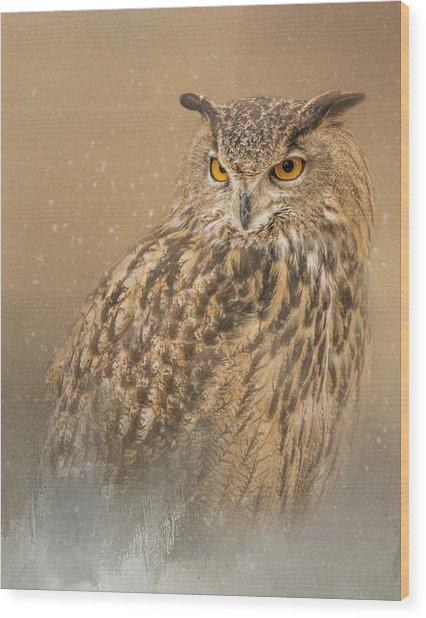 Spirit Of The Snow  Wood Print