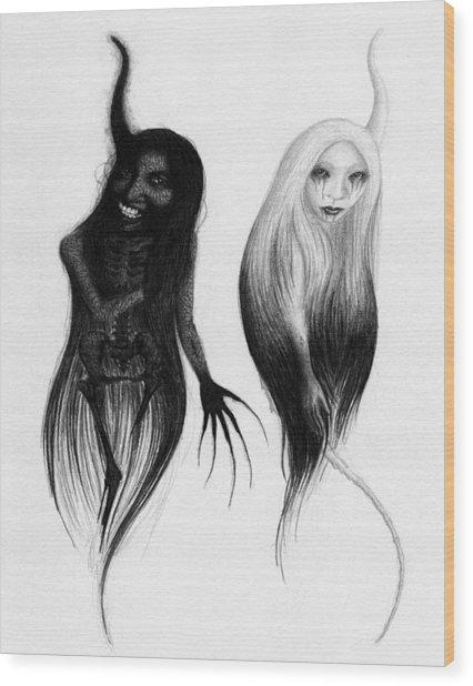 Spirits Of The Twin Sisters - Artwork Wood Print