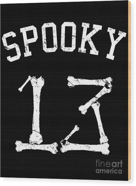 Spooky 13 Halloween Jersey Wood Print