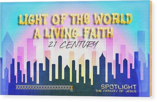 Spotlight Jesus Wood Print