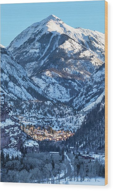 Spotlight On Ouray Wood Print