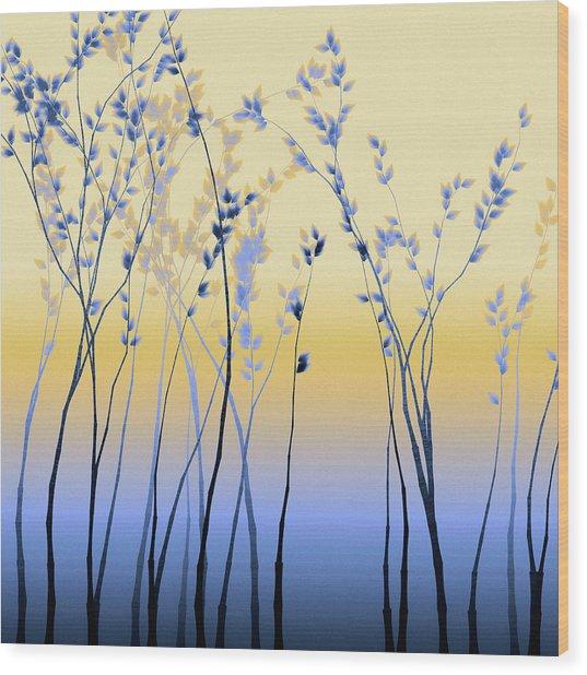 Wood Print featuring the digital art Spring Aspen by Susan Maxwell Schmidt