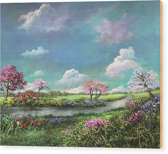 Spring In The Garden Of Eden Wood Print