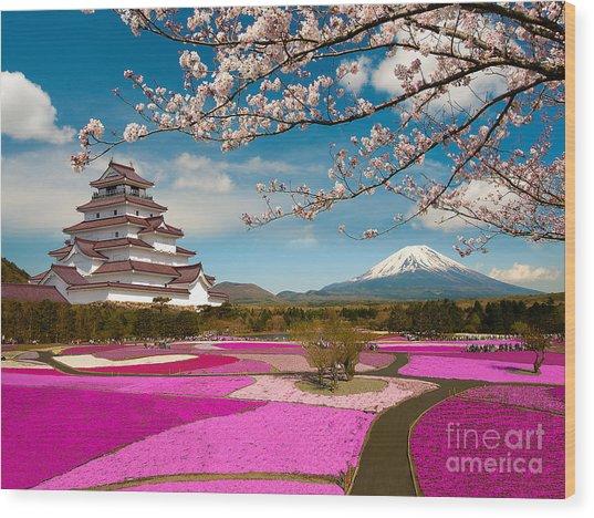 Spring Season In Japan Wood Print