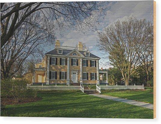 Springtime At Longfellow House Wood Print
