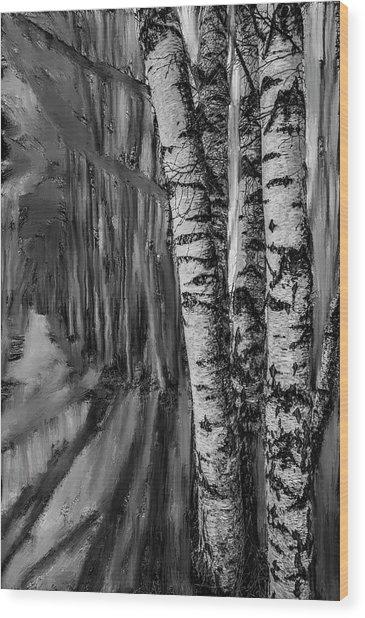 springtime ligh BW #i6 Wood Print