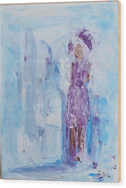 Spunky Angel Wood Print