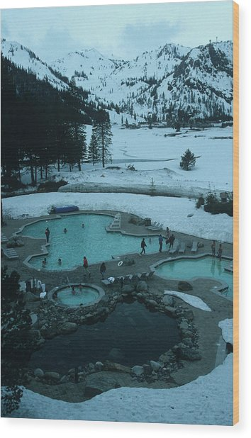 Squaw Valley Pool Wood Print