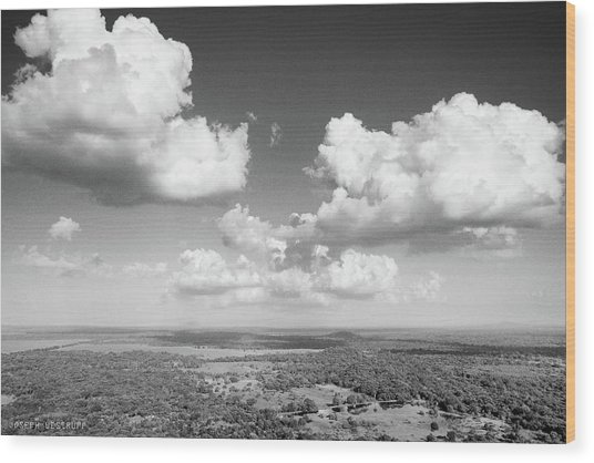 Sri Lankan Clouds In Black Wood Print