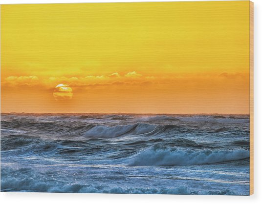 Sunset On A Windy Evening Wood Print by Fernando Margolles