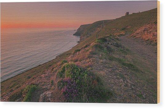 St Agnes Sunset Wood Print