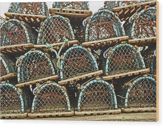 St. Andrews. Lobster Pots. Wood Print