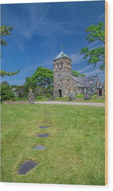 St Ann's Church Peaceful Kennebunkport Maine Wood Print