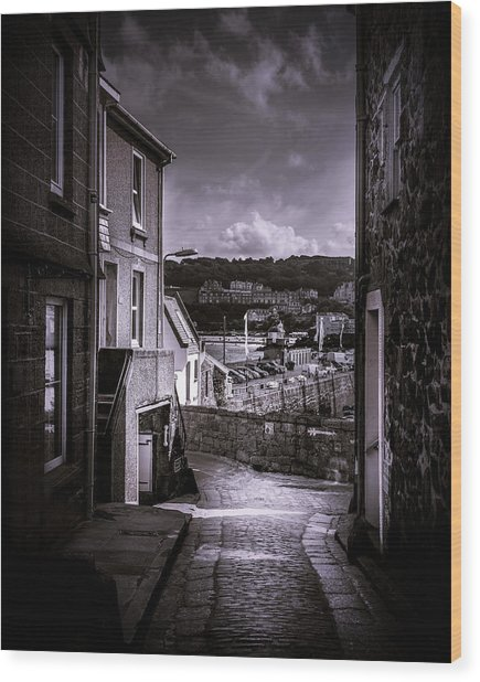 St Ives Street Wood Print