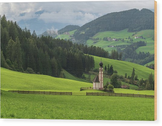 St Johann From The East Wood Print