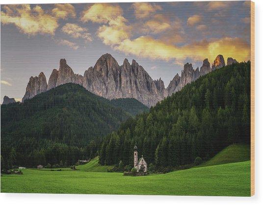 St Johann Sunrise Wood Print