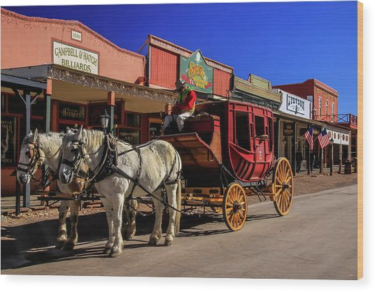 Stagecoach, Tombstone Wood Print