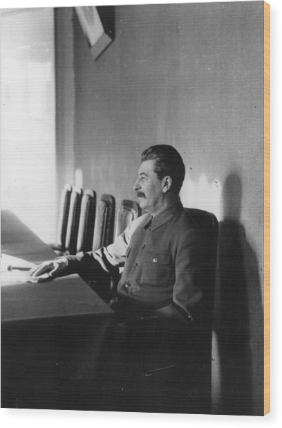 Stalin Wood Print by James Abbe