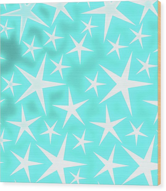 Star Burst 1 Wood Print