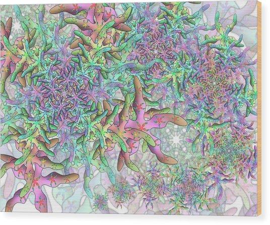 Star Remix Three Wood Print
