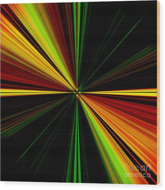 Starburst Light Beams Design - Plb461 Wood Print