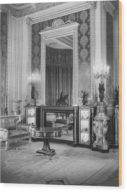 State Apartments Wood Print by Arthur Tanner