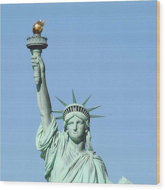 Statue Of Liberty Against Clear Sky Wood Print by Valentina Bielli / Eyeem