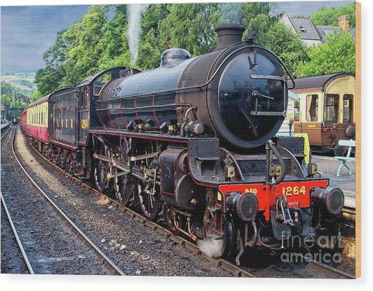 Steam Locomotive 1264 Nymr Wood Print