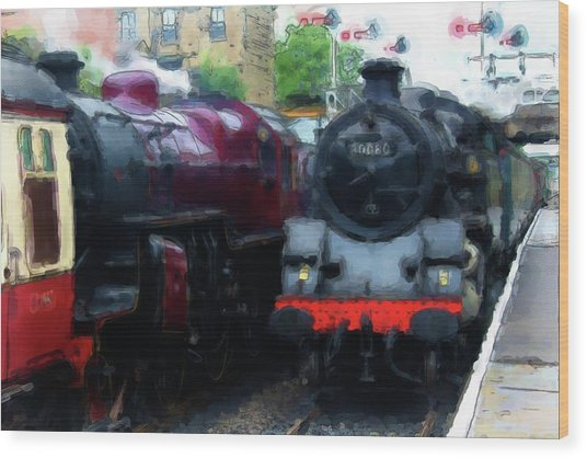 Steam Trains Wood Print