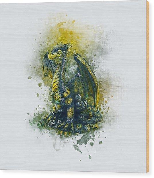 Steampunk Dragon Wood Print
